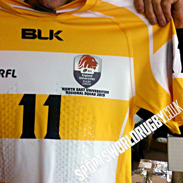 Team Shirts for NE Universities Rugby League Squad